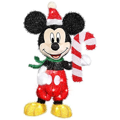 3d holiday lighted tinsel sculpture disney mickey candy for 3 d lighted christmas pig holiday outdoor decoration