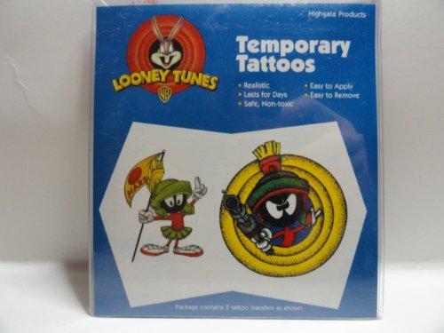 Body Prints Looney Tunes Temporary Tattoos - Marvin