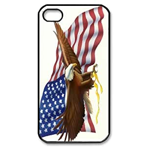 Bald Eagle on US American Flag For Iphone 4 4S case cover GHLR-T377839