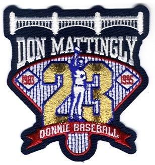 Don Mattingly Retirement Patch - New York Yankees