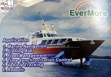 Evermore SA-320 Navman - Receptor GPS para barco, 12 canales, con interfaz RS-232, compatible con receptores de radio VHF RAY49E, RAY55, RAY218, Ultra Compact DSC, con fijación y cable de datos NMEA