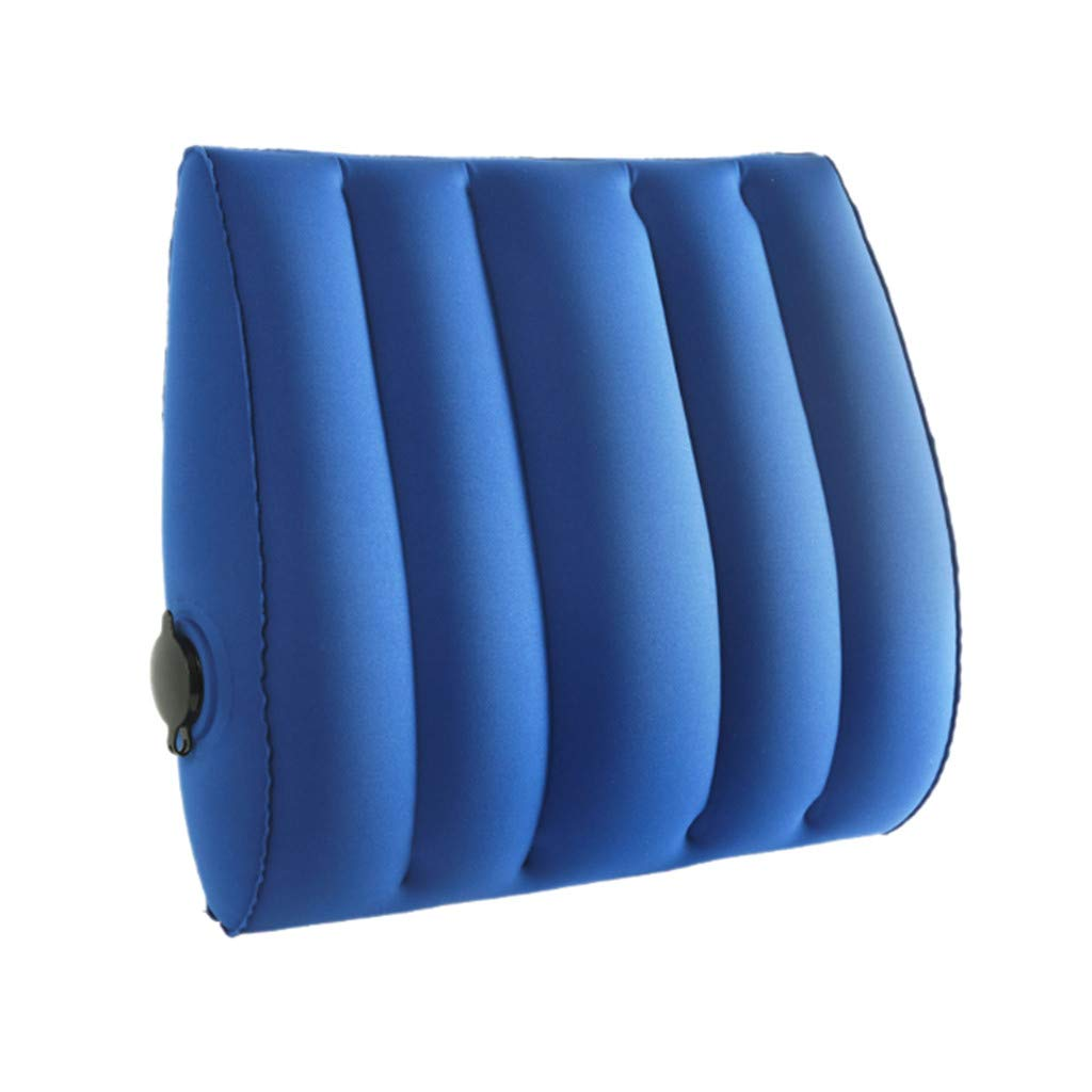 Libison 空気注入式腰椎サポートクッション ウエストサポートフロッククッション 腰痛緩和 姿勢矯正 車 オフィスチェア 腰痛緩和 ブルー  ブルー B07PLP23QZ