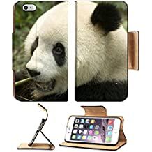 MSD Premium Apple iPhone 6 Plus iPhone 6S Plus Flip Pu Leather Wallet Case IMAGE ID: 4876112 close up eating big panda photo