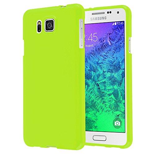 Cadorabo - Cubierta protectora para >                                              Samsung Galaxy ALPHA                                              < de silicona TPU en Diseño Jelly