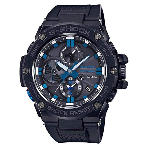 Men's Casio G-Shock G-Steel Limited Edition Blue Note Records Bluetooth Watch GSTB100BNR-1A (Best Selling G Shock 2019)