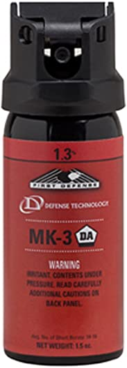 DEFENSE TECHNOLOGY First Defense OC Stream MK-3 1.3 Solution Red Band Pepper Spray 1.5-Ounce