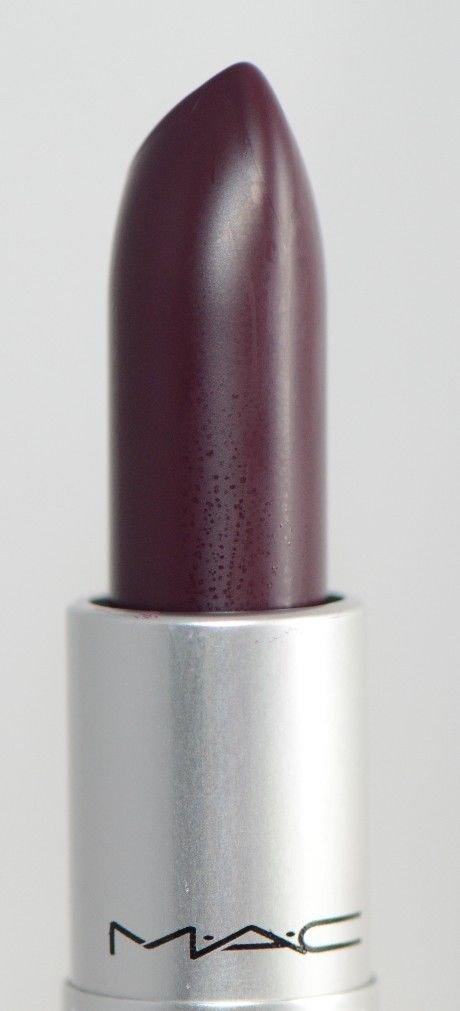 Favori Amazon.com: MAC Smoked Purple Matte Deep Eggplant Purple Lipstick  QW87
