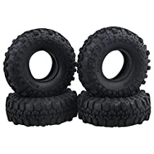 BQLZR 11x4cm Rubber Black 1.9inch Simulation Tires Tyre for RC 1:10 Rock Crawler Model Car Pack of 4