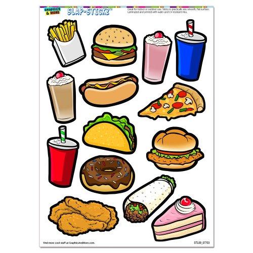 Fast Junk Food SLAP STICKZ Scrapbook