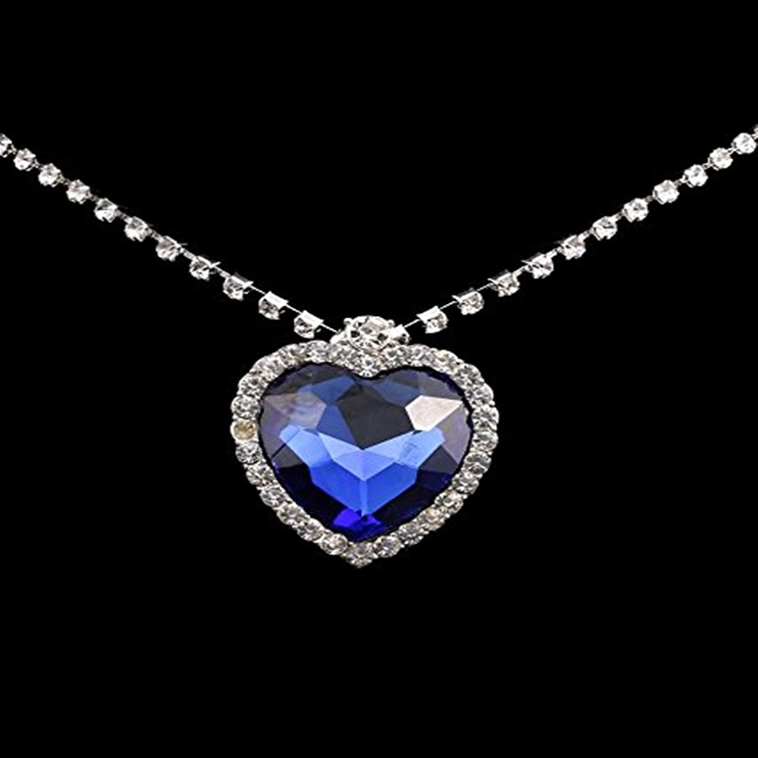 Buy caratcube sapphire blue austrian crystal heart of the ocean buy caratcube sapphire blue austrian crystal heart of the ocean titanic pendant for women ctc 15 online at low prices in india amazon jewellery store mozeypictures Gallery