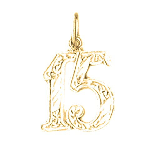 Jewels Obsession Silver Sweet 15 Pendant 14K Yellow Gold-plated 925 Silver Sweet 15 Pendant