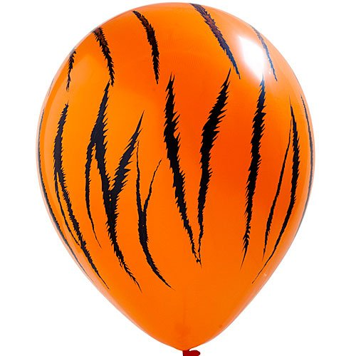 Wild Jungle Safari Print Balloons Tiger Package of 12 Party Supplies Decorations -