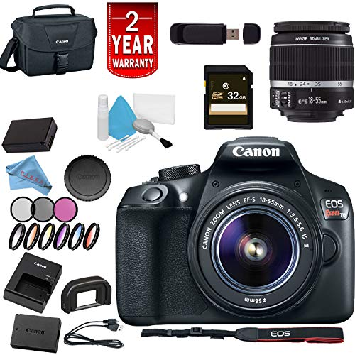 Canon Eos Rebel T6 Digital SLR Camera w/18-55 is II Lens USA Bundle