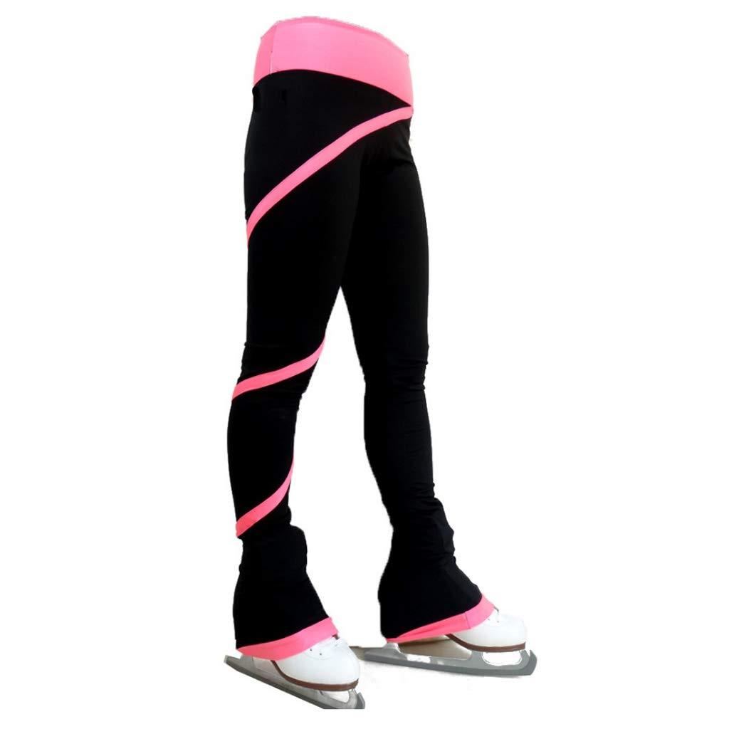 DYNWAVE Ice Figure Skating Practice Fleece Pants Skate Footless Tights Leggings Perfect for Women /& Girls