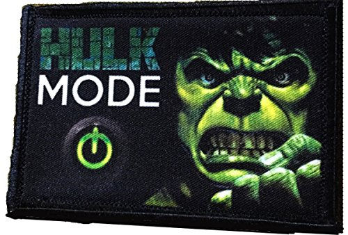Hulk Mode Morale Patch. Perfect for your Tactical Military Army Gear, Backpack, Operator Baseball Cap, Plate Carrier or Vest. 2x3 Hook Patch. Made in the USA