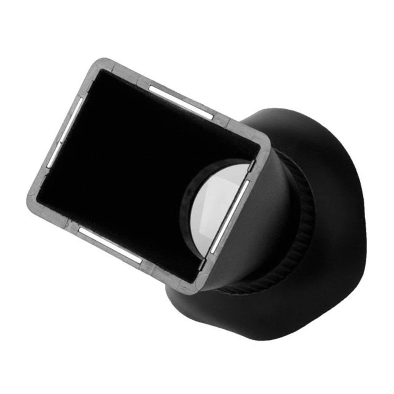 Visor LCD a Prueba de Polvo 2.8X Ampliador de la Lupa Capucha Lente /óptico 180 /° /Ángulo Color: Negro