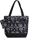 Black and White Damask Tote Beach Bag, Bags Central
