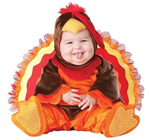UHC Baby's Turkey Lil Gobbler Jumpsuit Infant Toddler Child Halloween Costume, 18M-2T ()