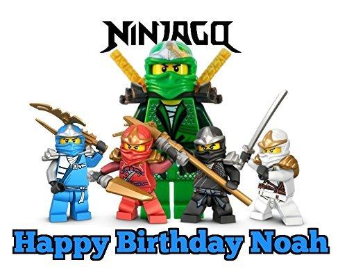 Ninjago Image Photo Cake Topper Sheet Personalized Custom Customized Birthday Party - 1/4 Sheet - 75874 (Ninjago Cake Decorations)