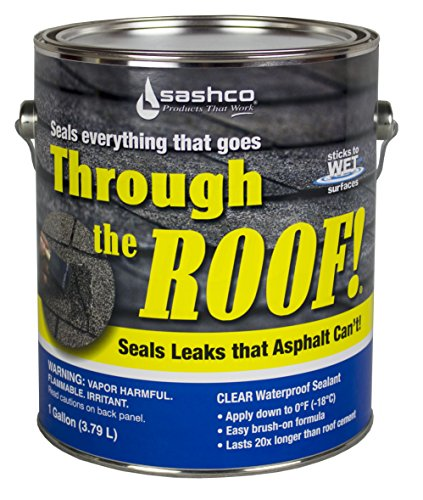 Sashco Through The Roof Sealant, 1 Gallon Container, Clear (Pack of 2)