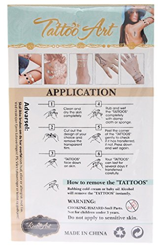 Bigood Colorful Nontoxic Double Wing Temporary Tattoo Sticker Paster by Bigood (Image #7)