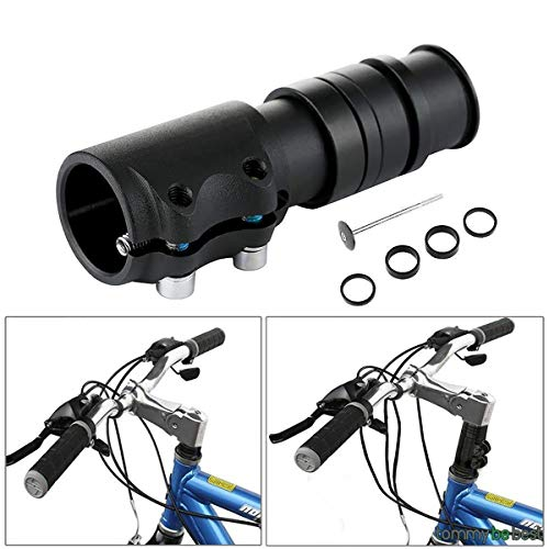 Yannuo Trading Bicycle Bike Handlebar Fork Stem Riser Rise Up Extender Head Up Adaptor Durable MTB Mountain Cycling Part(Black)