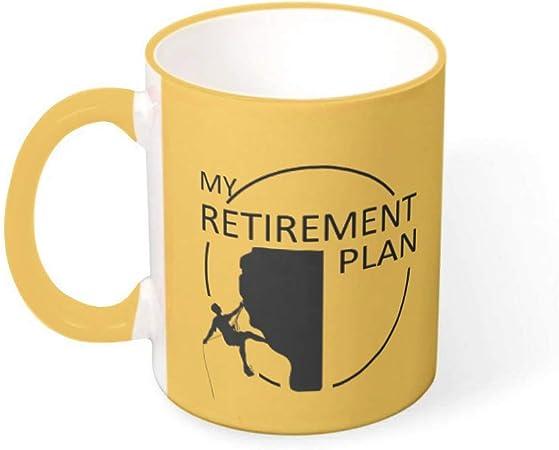 Lind88 Plan de jubilación Escalada Taza de café Taza con ...
