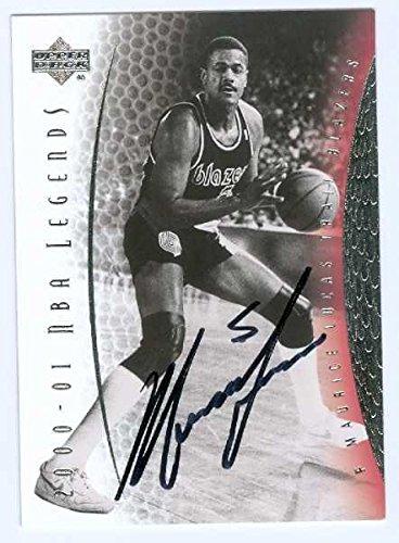 Lucas Autographed Basketball (Maurice Lucas autographed Basketball Card (Portland Trail Blazers) 2001 Upper Deck NBA Legends #34 - Basketball Autographed Cards)
