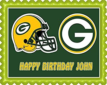 a958796f6 Image Unavailable. Image not available for. Color  GREENBAY PACKERS Edible  Birthday Cake OR Cupcake ...