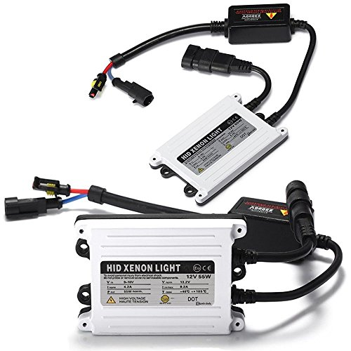 Zento Deals 2 Pieces of Universal Fit AC Digital Bi-Xenon HID Ballast Replacement Kit 55W 2k HID