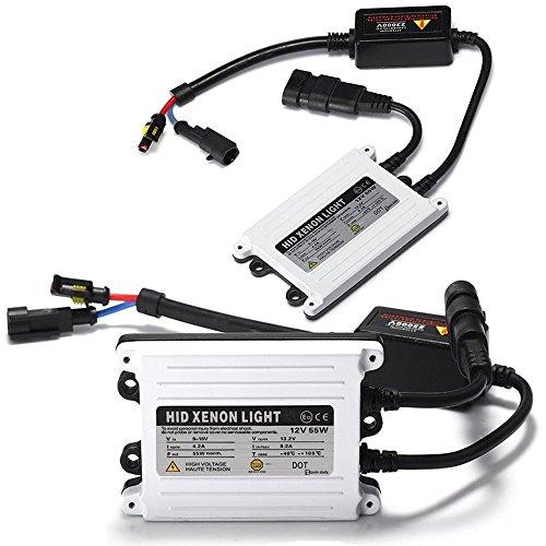 Fluorescent Electromagnetic Ballast (Zento Deals 2 Pieces of Universal Fit AC Digital Bi-Xenon HID Ballast Replacement Kit 55W 2k HID)