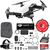 DJI Mavic Air Fly More Combo (Arctic White) Drone Combo 4K Wi-Fi Quadcopter with Remote Controller Mobile Go Bundle with Backpack VR Goggles Landing Pad 16GB microSDHC Card HD Filter Kit