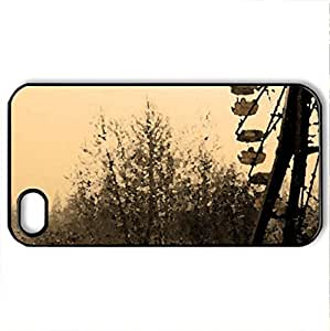 Chernobyl Ferris Wheel - Case Cover for iPhone 4 and 4s (Amusement Parks Series, Watercolor style, Black)