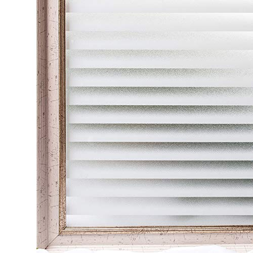 CottonColors Window Film Frosted Static Privacy Decoration Self Adhesive for UV Blocking Heat Control Glass Stickers,23.6x78.7 Inches (Light Filtering Film)
