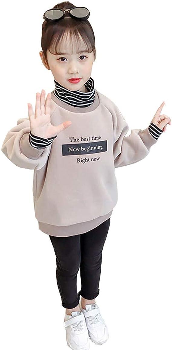 Girls Kids High Neck Top Girls Fleece Jumper Long Sleeves