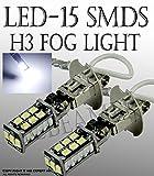 1997 240sx fog lights - ICBEAMER pairs H3 12V 15 LED SMDs Fit Fog Light Only Replace existing halogen Light Bulbs Lamp [Color Super White]