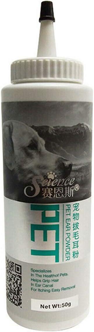 YH Polvo para la Limpieza de oídos Cuidado de la Salud de Las Mascotas Polvo para los oídos de Mascotas para Perros Gatos Cuidado de la Salud de Las Mascotas Suministros