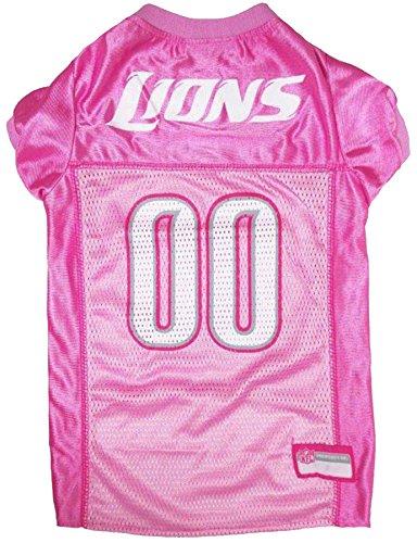 Pets First NFL Detroit Lions Jersey, Large, Pink