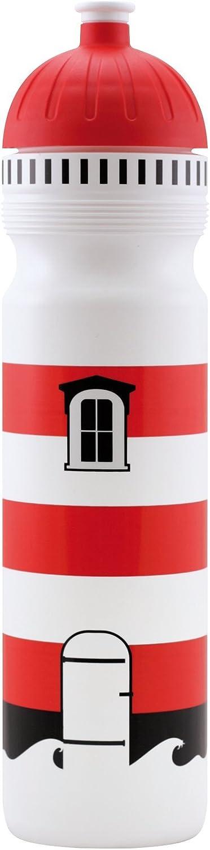 ISYbe Original Botella de Bebida para niños, sin BPA, Motivo Faro, para Viajes-Escolares-jardín de Infancia-Ocio, a Prueba de Fugas, también con Gas, Apto para el lavavajillas
