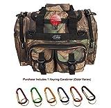 NPUSA Mens 15'' inch Hunters Camo Duffel Duffle Molle Tactical Shoulder Bag with Key Ring Carabiner