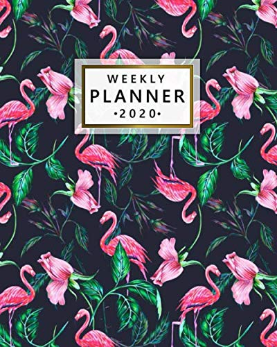 2020 Weekly Planner: Elegant Pink Flamingo One Year Weekly Planner & Diary with Vision Boards | Daily Organizer & Agenda…