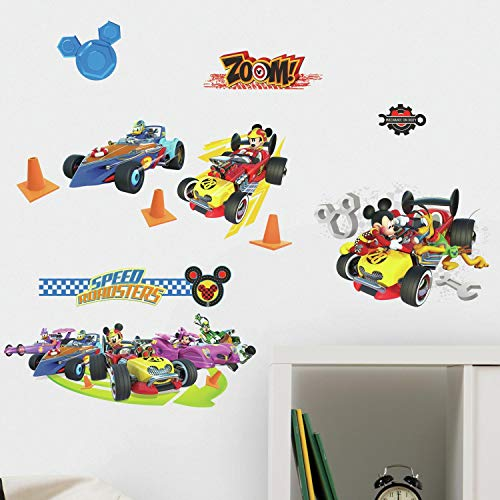 (RoomMates Mickey And The Roadsters Racers Peel And Stick Wall Decals)