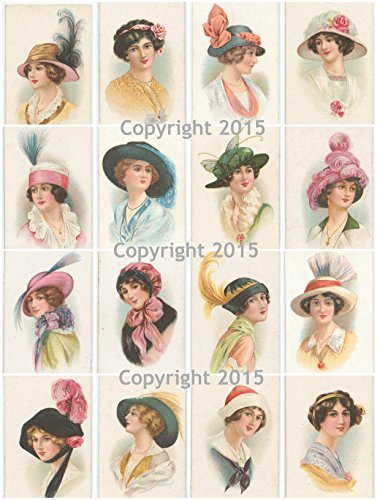 Vintage Hats Collage Sheet #102 Art ()