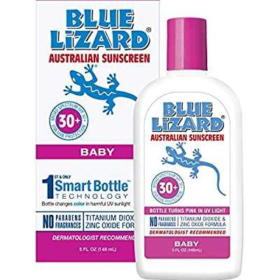 Blue Lizard Australian Sunscreen - Baby Sunscreen SPF 30+ Broad Spectrum UVA/UVB Protection