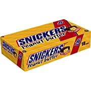 SNICKERS Peanut Butter Squared Sharing Size Chocolate Candy Bars 3.56-Ounce Bar 18-Count Box