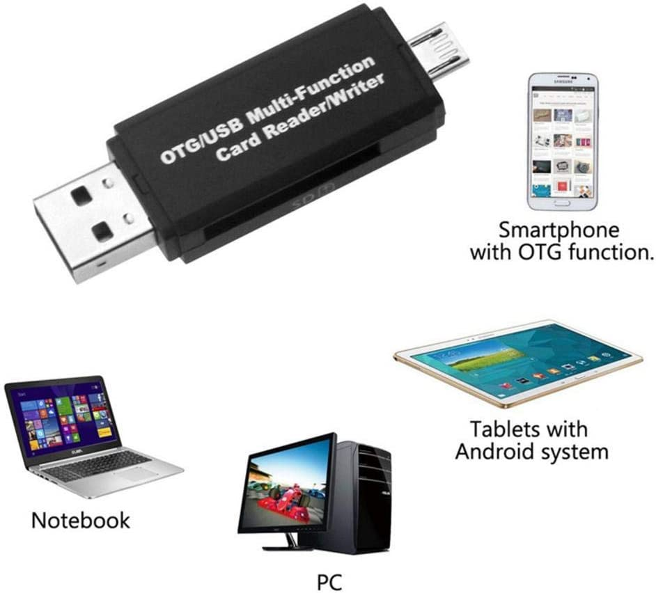 Micro SD Card//USB C Card Reader and 2 in 1 USB Type C//Micro USB//USB Portable sdxc SD Card Adapters Lovable Grehod Memory Card Reader