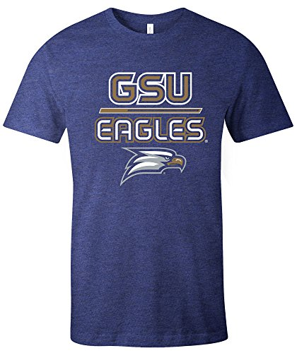 NCAA Georgia Southern Eagles Reverse Short Sleeve Triblend T-Shirt, XX-Large,Navy -