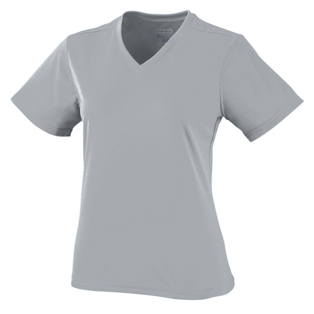 Ladies Wicking/Antimicrobial Jersey - Silver Grey - 2XL