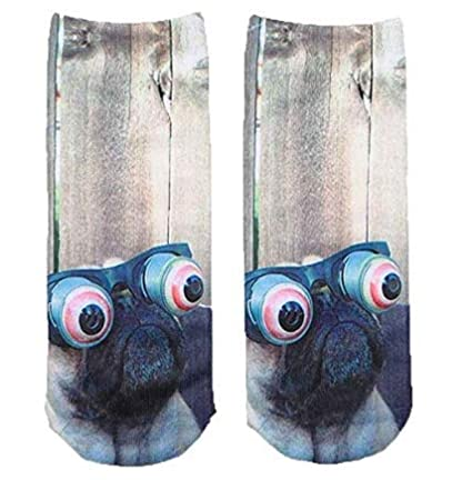 XBY.mi 1pair Fashion Casual Non-slip Warm Socks (Cute dog 3D)