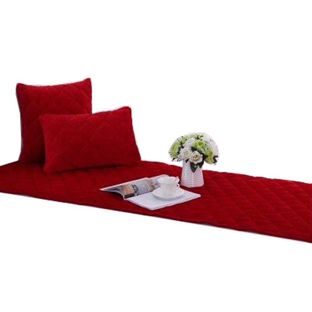 Kylin Express Non-slip Bay Window Pad/Windowsill Mat/Sofa Mat/Sofa Cushion (70x150cm), Red